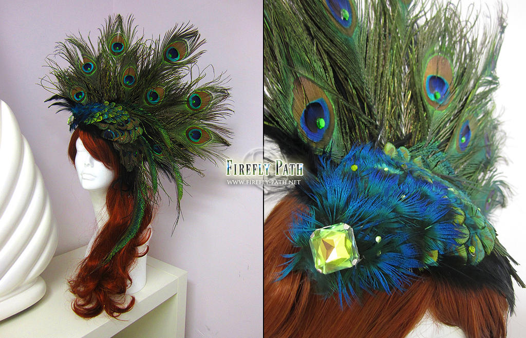 Peacock Headress by Lillyxandra