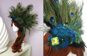 Peacock Headress by Firefly-Path