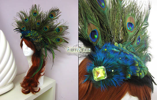 Peacock Headress by Firefly-Path