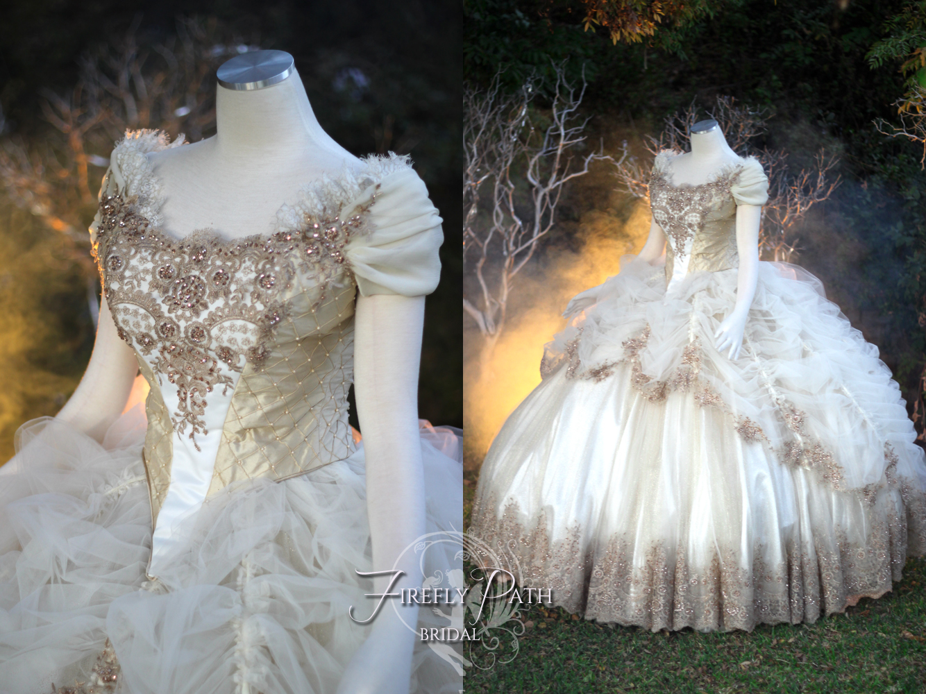 Beauty and the beast wedding gown by firefly path on for Beauty and the beast style wedding dress