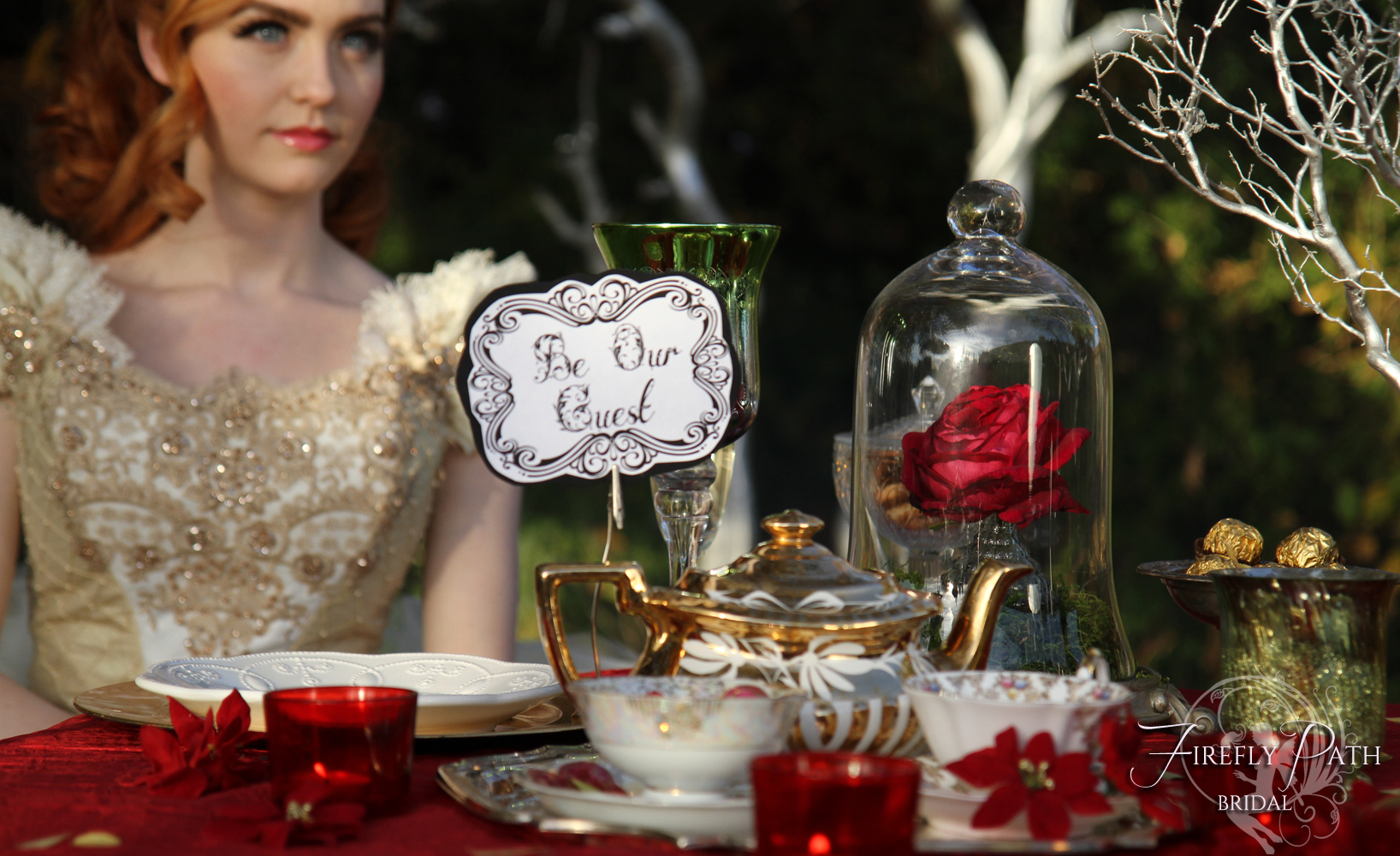 Beauty and the Beast Themed Wedding by Lillyxandra