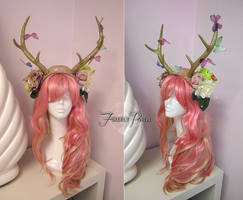 Butterfly Fawn Headdress by Firefly-Path