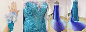 Elsa Inspired Prom Gown