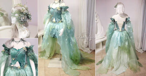 Seafoam Fairy Dress by Firefly-Path
