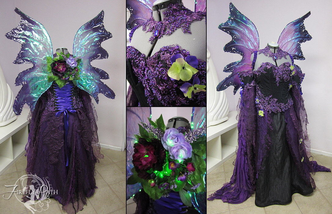 Dark Purple Faerie by Lillyxandra