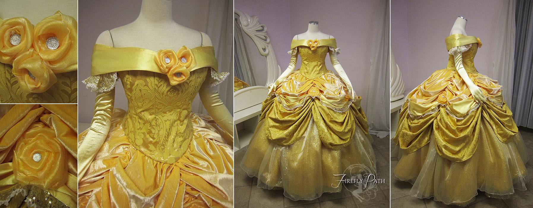 Belle Dress Disney Park Version by Lillyxandra on DeviantArt