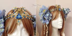 Periwinkle Art Nouveau Headdress