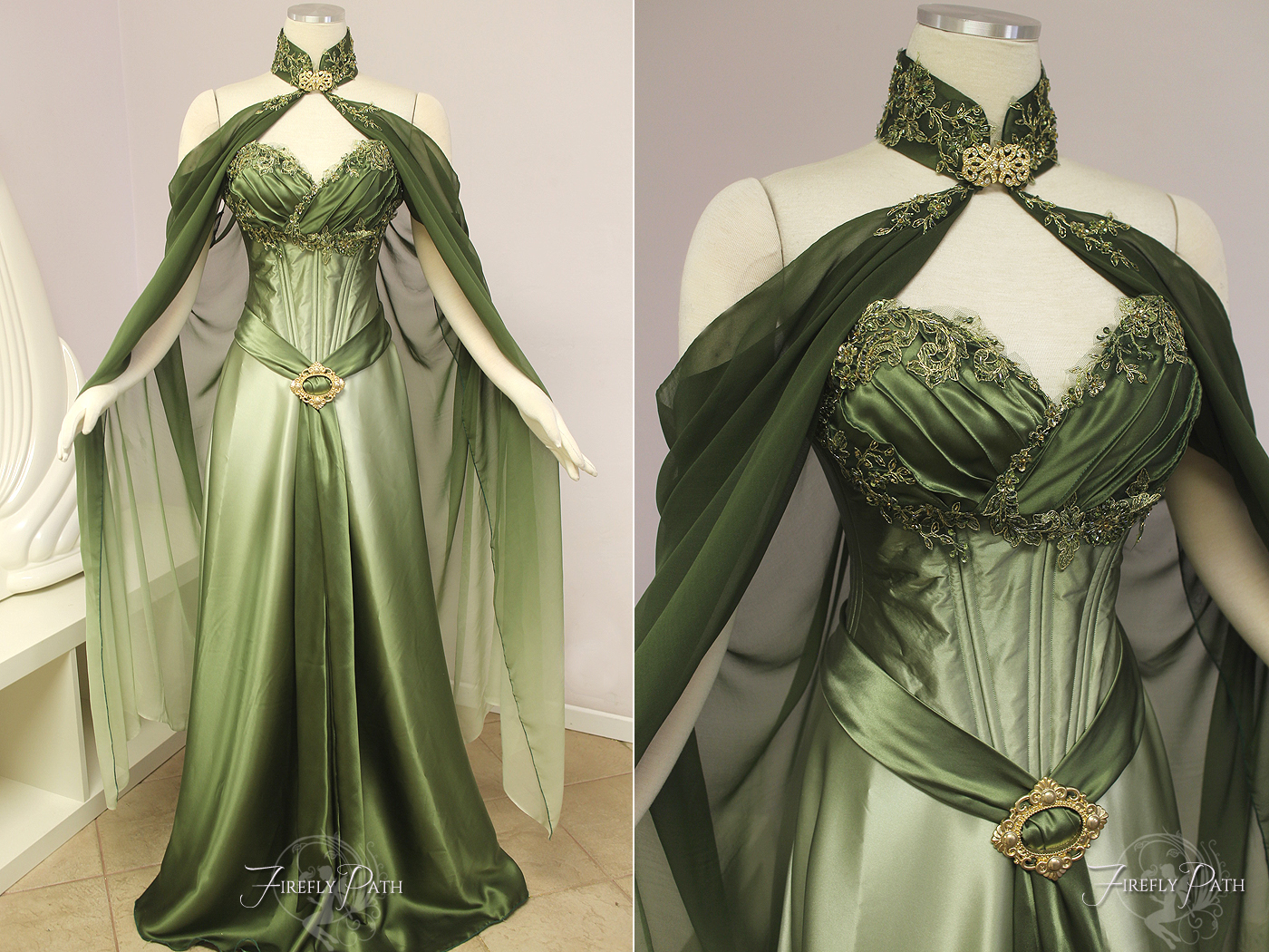 Elven bridal gown by firefly path on deviantart for Elven inspired wedding dresses