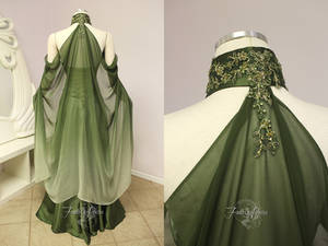 Elven Bridal Gown Back View