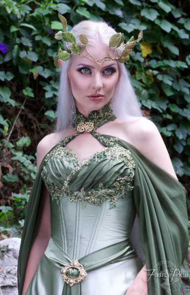 Elven Bridal Gown Model by Lillyxandra