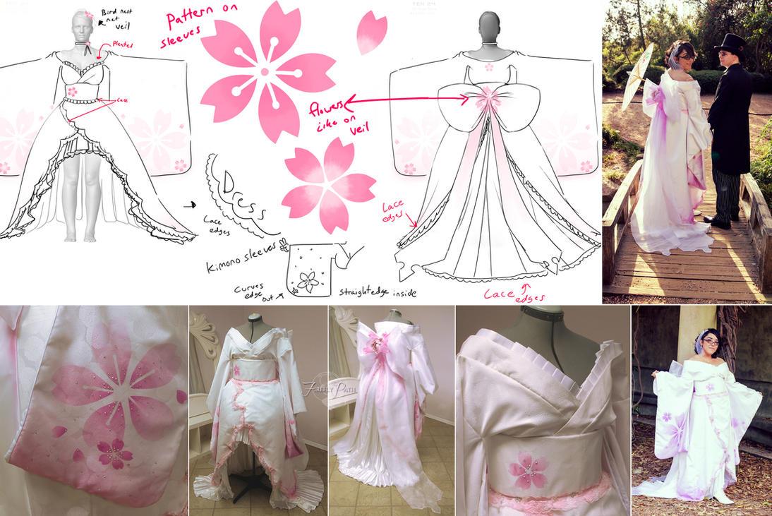 Sakura Kimono Bride by Lillyxandra