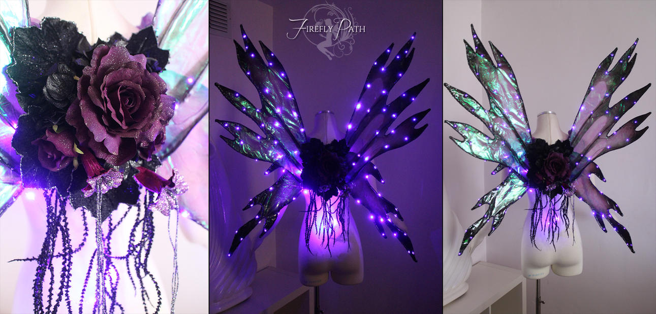 Purple LED Wings by Lillyxandra