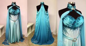 Elven Bridal Gown in Blue and Aqua