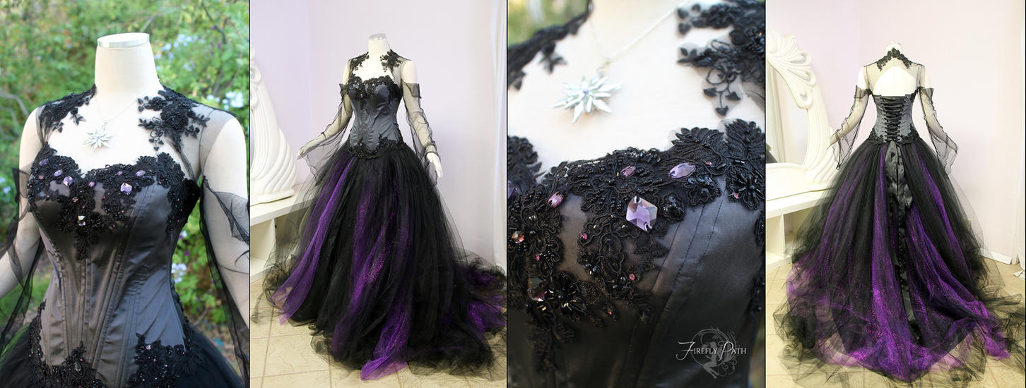halloween wedding dress by firefly path