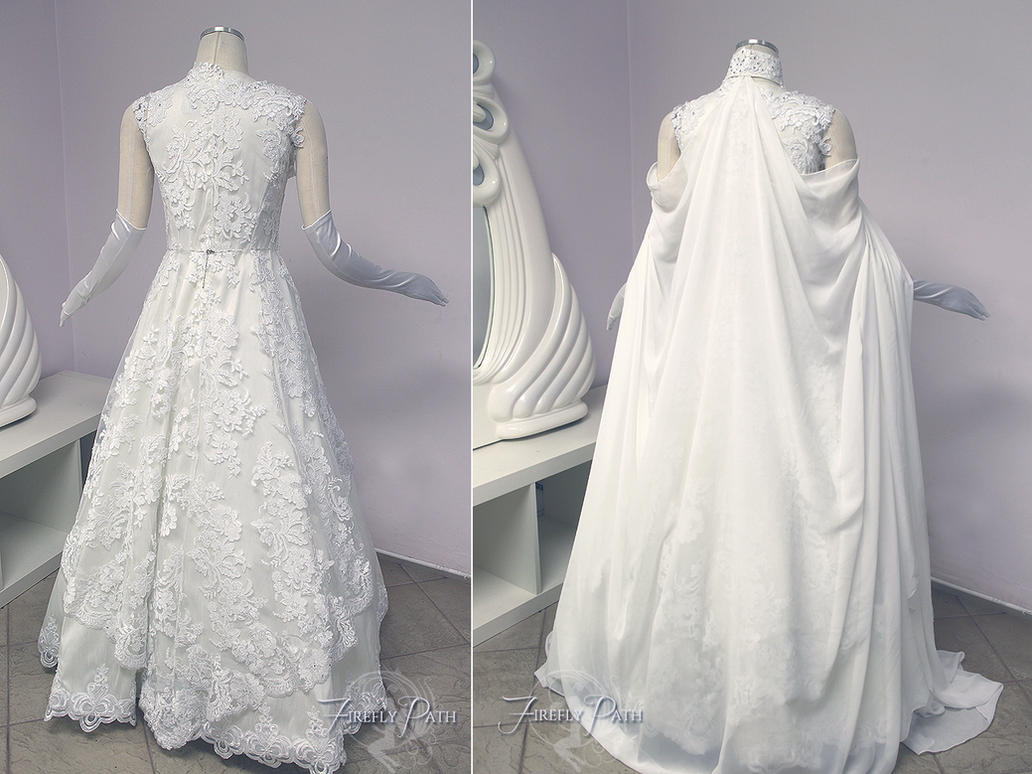 Zelda Wedding Gown Back View by Firefly-Path on DeviantArt