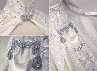 Zelda Wedding Dress Details by Firefly-Path