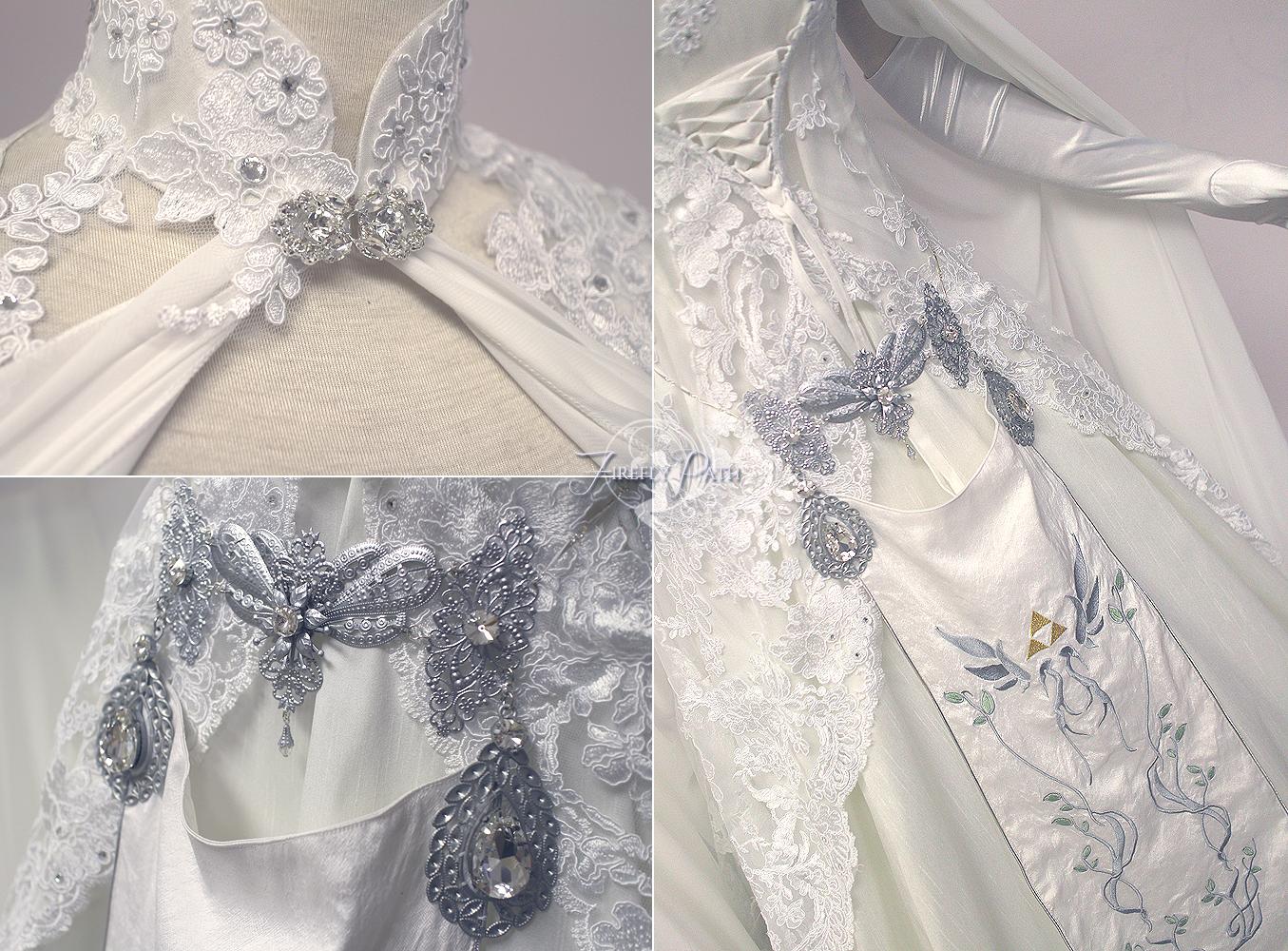 Zelda Wedding Dress Details By Firefly Path