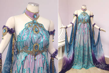 Art Nouveau Fantasy Gown by Firefly-Path