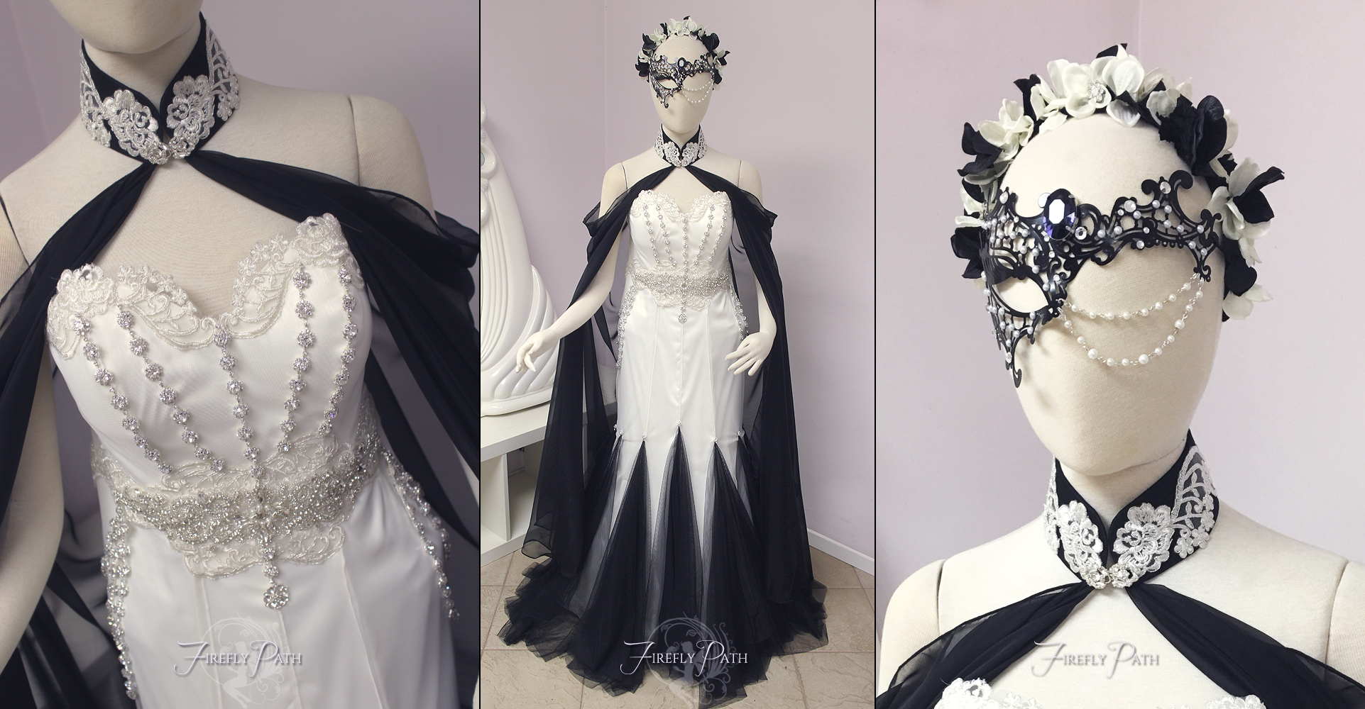 Masquerade Themed Bridal Gown By Firefly Path On DeviantArt