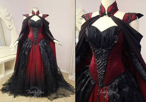 Crimson Moon Dragon Gown by Firefly-Path