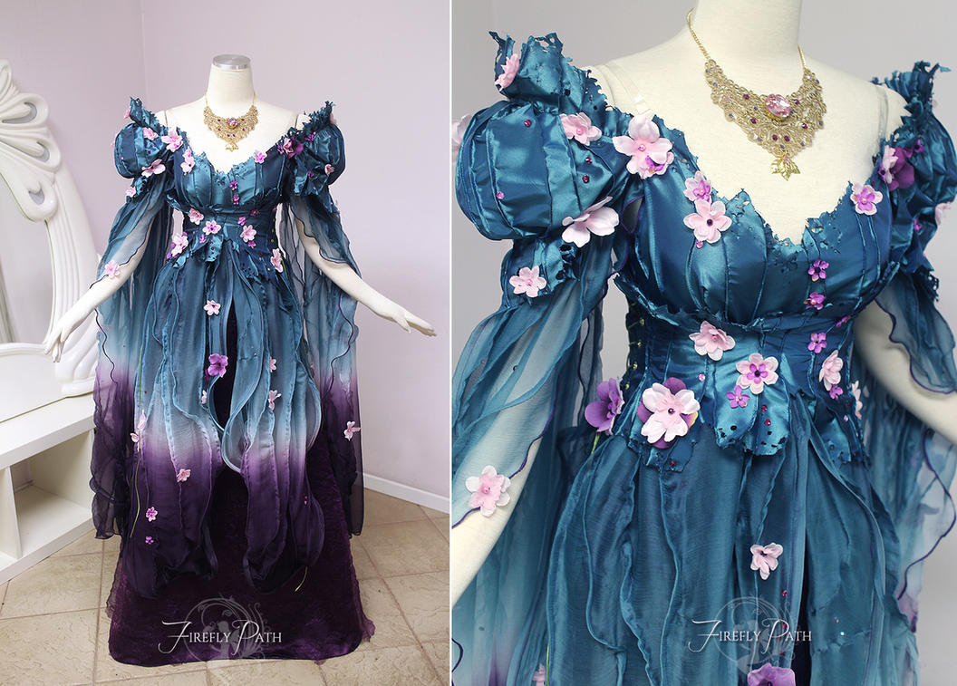 Royal Spring Faerie Gown by Firefly-Path ... & Royal Spring Faerie Gown by Firefly-Path on DeviantArt