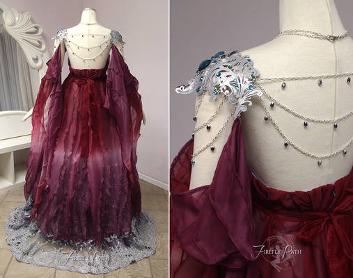 Elegant Armor Gown Back View