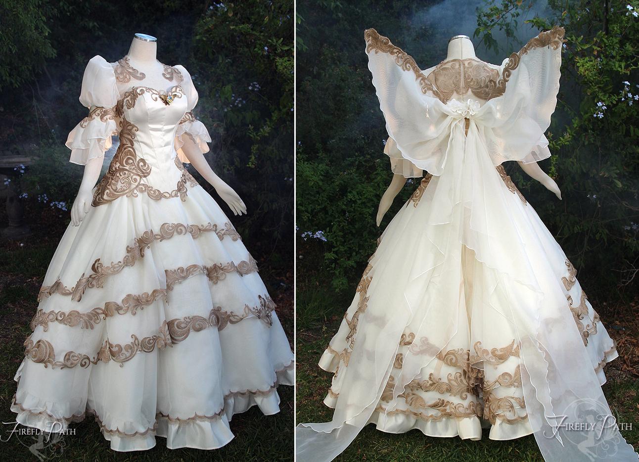 Tsubasa chronicles bridal dress by firefly path on deviantart for Legend of zelda wedding dress