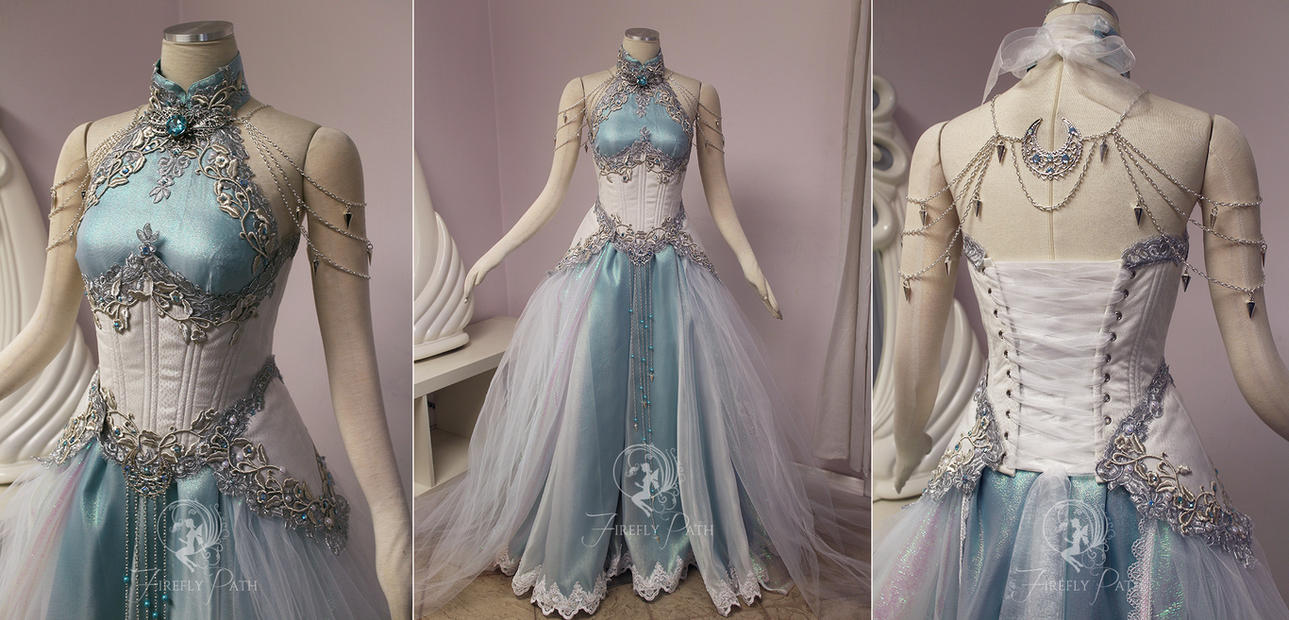 Moonlight elven gown by firefly path on deviantart for Elven inspired wedding dresses