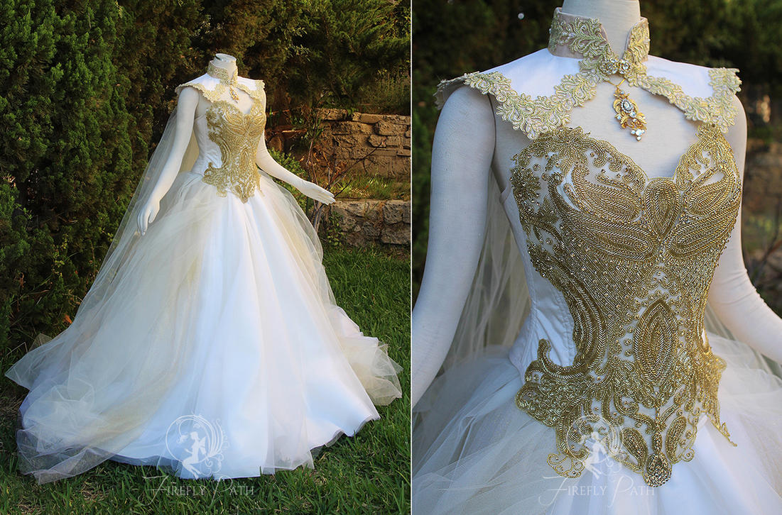 Goddess of angels gown by firefly path on deviantart for Elven inspired wedding dresses