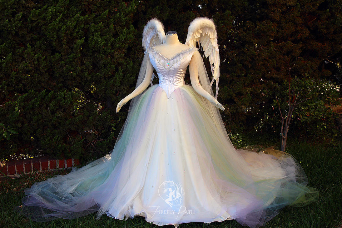 Angelic Rainbow Bridal Gown and Wings by Firefly-Path on DeviantArt