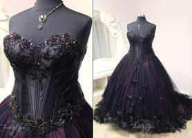 Gothic Masquerade Bridal Gown