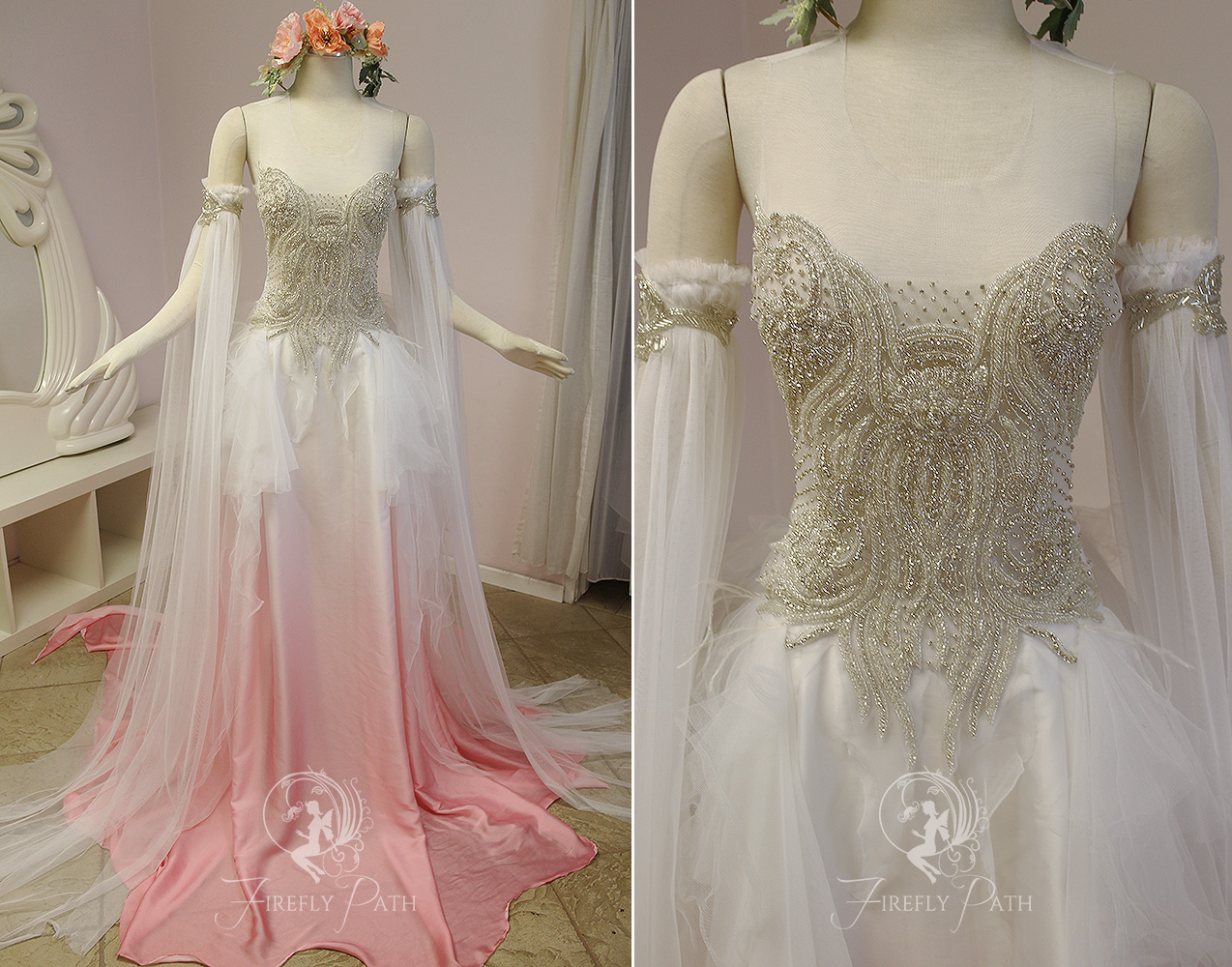 Peachblossom faerie gown by collection 11 wallpapers for Elven inspired wedding dresses