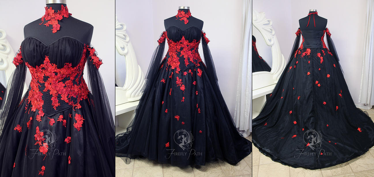 Vampire Bridal Gown by Firefly-Path on DeviantArt