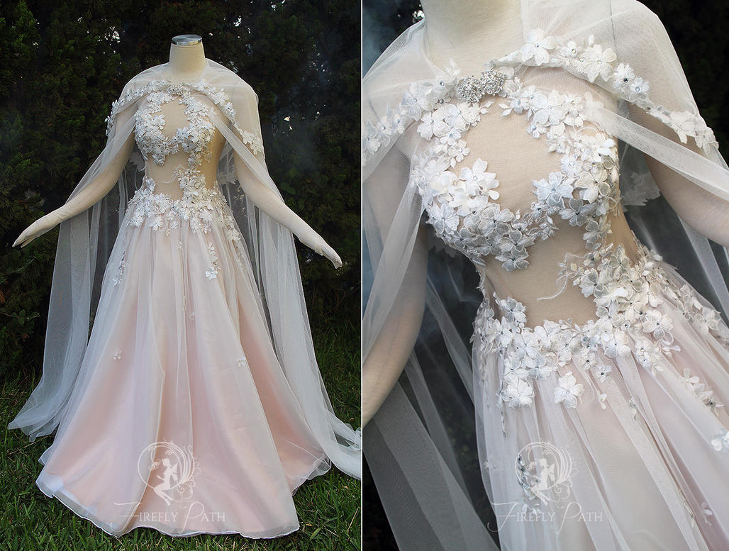 Peach petal gown by firefly path on deviantart for Legend of zelda wedding dress