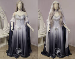 Silver Shadow Elven Gown (sleeve view)