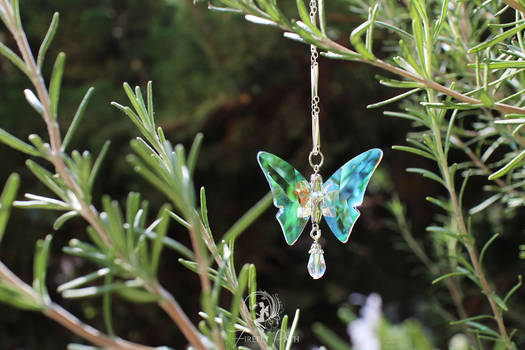 Crystalline Butterfly Necklace