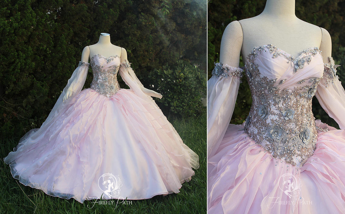 Champagne Pink Princess Gown by Firefly-Path on DeviantArt