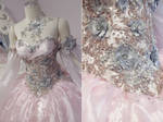 Champagne Pink Princess Gown Details