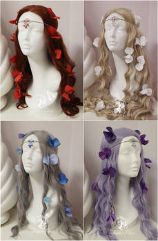 Crystal Circlets and Hair Flowers