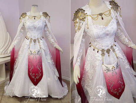 White and Red Zelda Gown