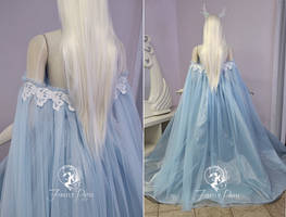 Frost Rose Gown (back view) by Firefly-Path