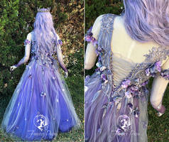 Dusk Faerie Bridal Gown (Back View) by Firefly-Path