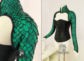 Dragon Scale Bolero Pattern by Firefly-Path