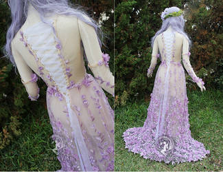 Plumeria Gown back view by Firefly-Path