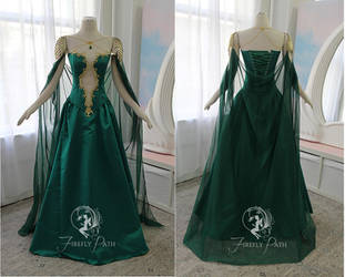 Jade Dragon Gown by Firefly-Path