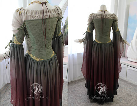 Celtic Sorceress Gown (Back View)