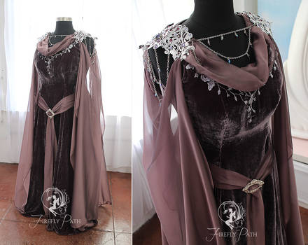 Smoky Purple Elven Gown