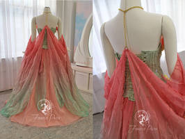 Lotus Princess Gown Back View