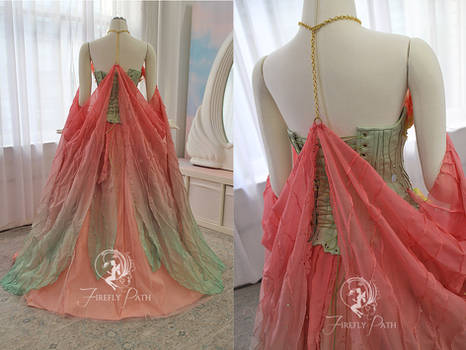 Lotus Princess Gown Back View