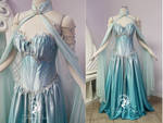 Icy Teal Elven Bridal Gown